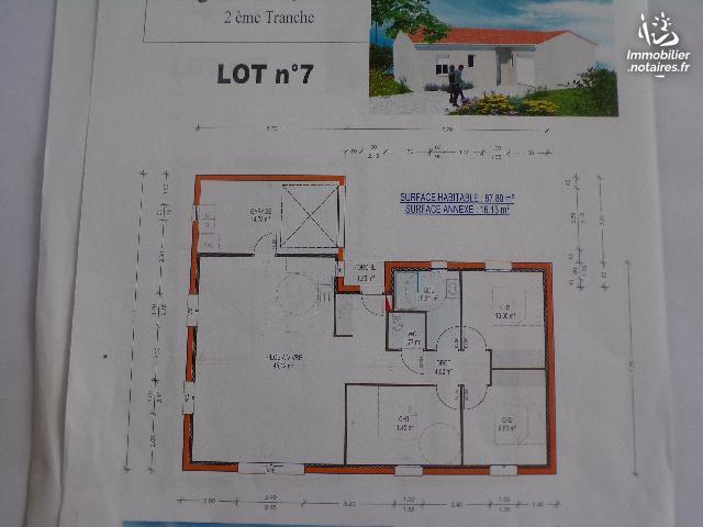 Vente - Maison - Ruffec - 87.80m² - 4 pièces - Ref : M206L7