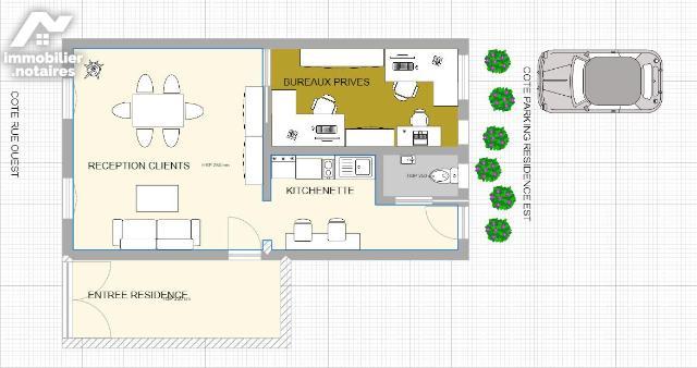 Vente - Local d'activité - Tarbes - 48.0m² - 2 pièces - Ref : 65009-904814