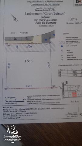 Vente - Terrain à bâtir - Ardillières - 662.00m² - Ref : 10726/412